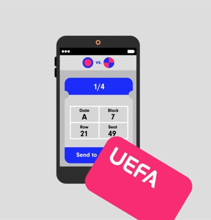 Tickets for the UEFA through the blockchain-a platform