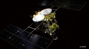 Hayabusa 2 collects sample from the surface of Ryugu
