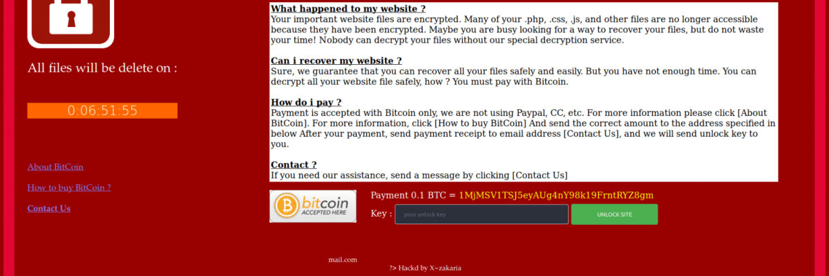 Hacker extorts 0.1 BTC for decoding the website of the Ukrainian Ministry of Energy
