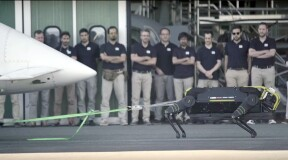 Meet HyQReal: a tow robot that can move a 3 tonne plane
