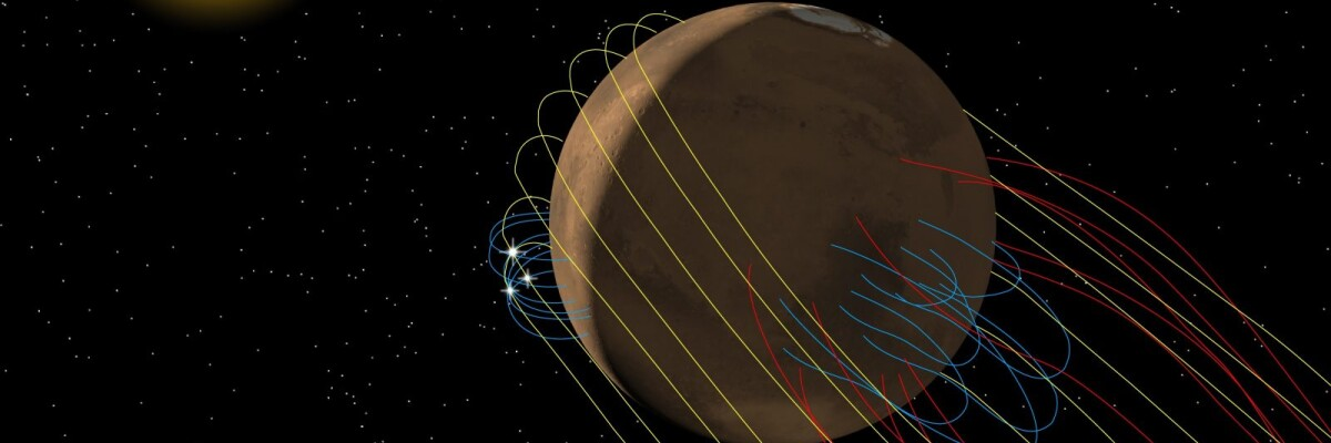 Magnetic Tail of Mars