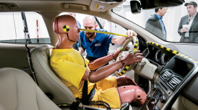 How to perform a crash test with minimum damage to the car