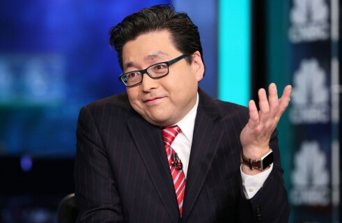 Tom Lee forecasts bitcoin price falling mid April