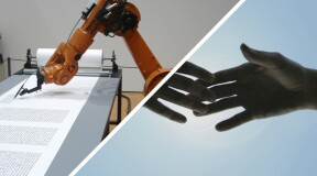 Robots equipped with tactile and visual object identification systems