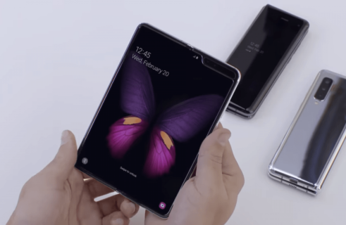 Samsung demonstrates the Galaxy Fold smartphone testing by robots