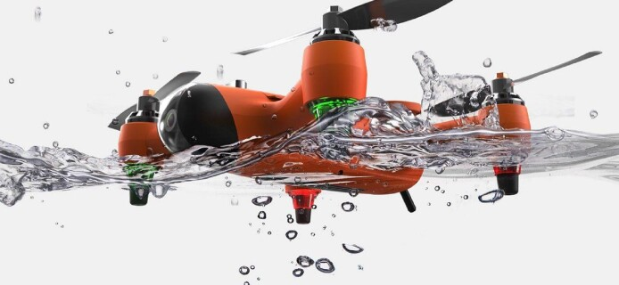 SPRY: amphibian drone is able to fly and swim under water