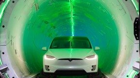 The Boring Company Unveils Its First Electric Vehicle Tunnel