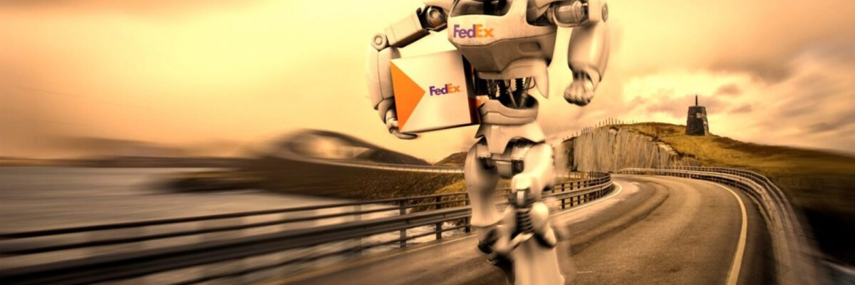 FedEx robot jumps and climbs stairs