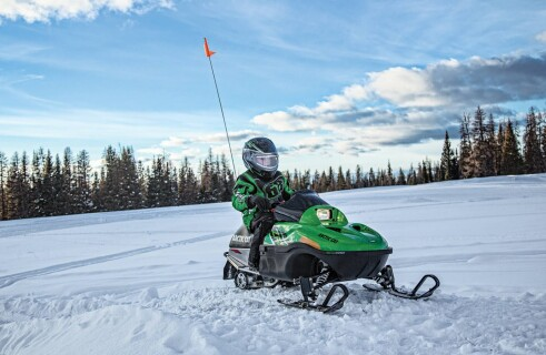 Transforming snowmobile for children will also appeal to adults
