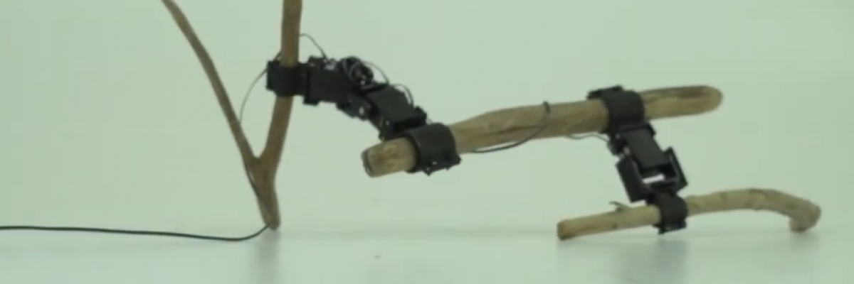 This Japanese robot uses sticks instead of legs for walking