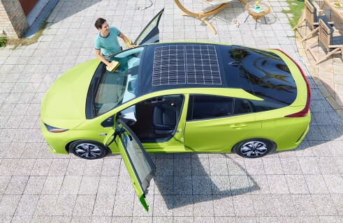 Toyota creates car powered by solar panels