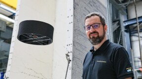 Swiss startup presents 'flying saucer' drone