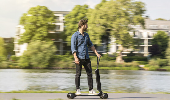 Audi merges electric scooter and skateboard