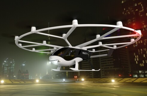 VoloCity presents the flying taxi final version