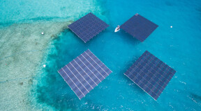 The Maldives has the largest floating solar power plant in the world