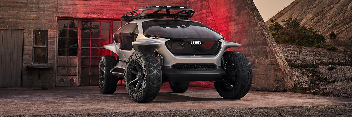 Audi concept car with drones instead of headlights