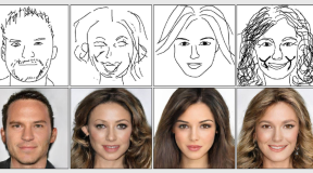 AI learns how to take a simple sketch and turn it into a completed portrait