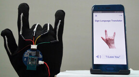 Bioengineers have developed a glove which converts sign language into speech