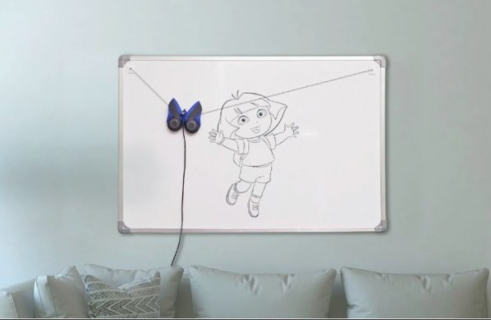 DrawBo the wall-mounted robot teaches your child how to draw