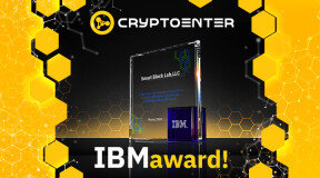 IBM has awarded Cryptoenter DeFi solution as 'Most Promising Fintech Solution Using IBM Clould Services'