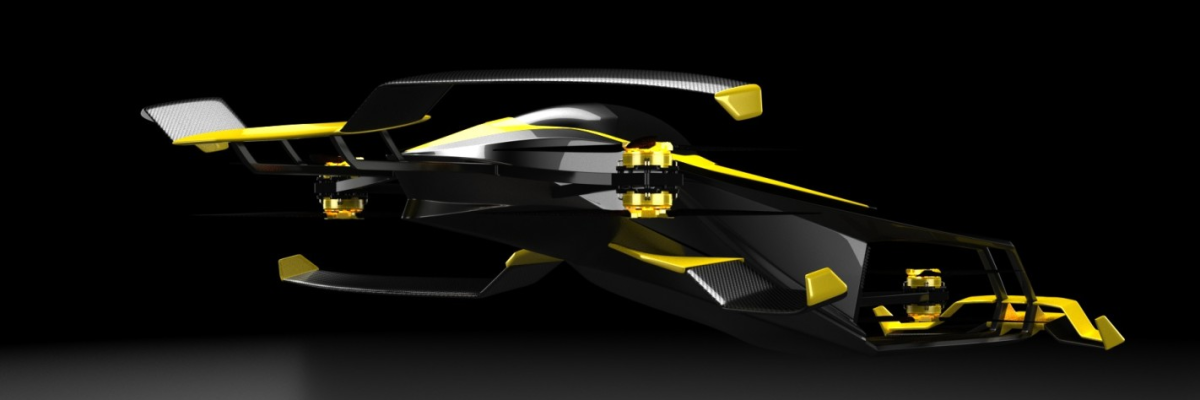A hydrogen-powered Carcopter is being developed for racing in France